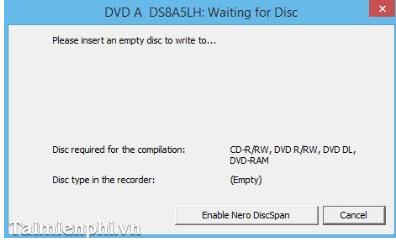 Phần mềm ghi đĩa Nero